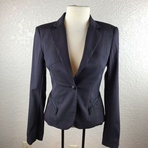 Bebe womens blazer with zipper detail at waistline